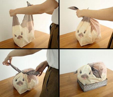 ウサギになる風呂敷の画像(1枚目)