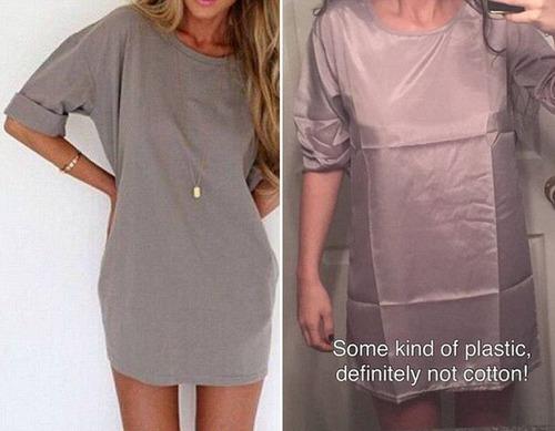 ちょっと酷い…女性の服の商品画像と届いた商品の比較画像の数々。。の画像(2枚目)