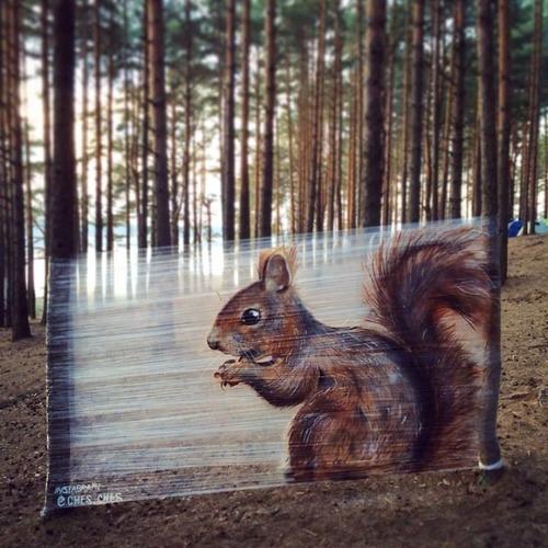 森の中の動物のペイント06