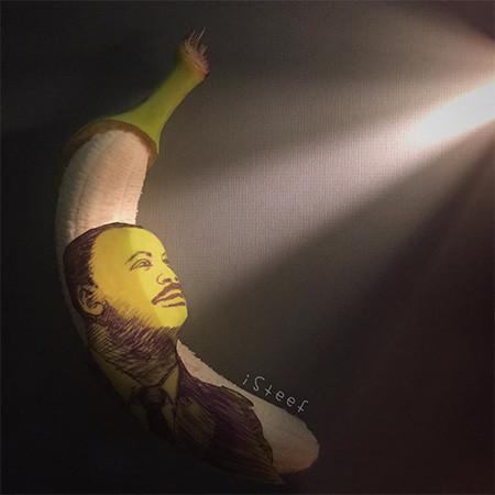 バナナのカービングアート17