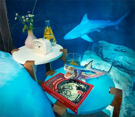 【画像】360度、水に囲まれたお部屋に泊まれるホテルが凄い!!!の画像(5枚目)