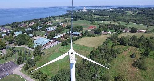 ドローンで撮影!発電用の巨大風車を上から撮影した驚愕の写真!の画像(3枚目)