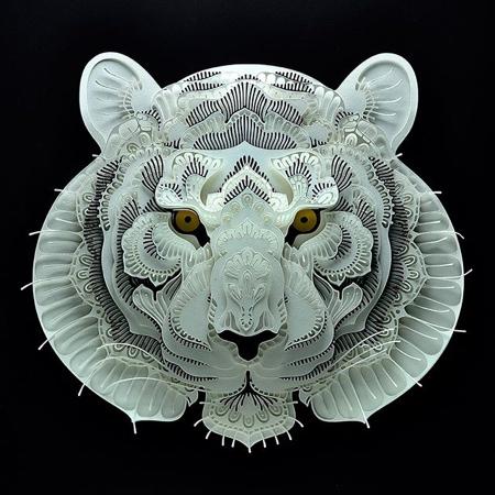 動物の3Dペーパークラフトの画像(1枚目)
