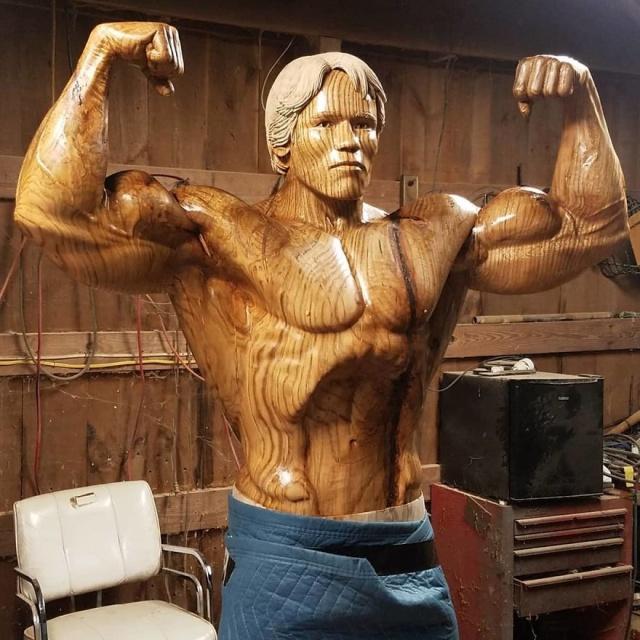 凄まじいクオリティの木彫りの彫刻の画像(9枚目)