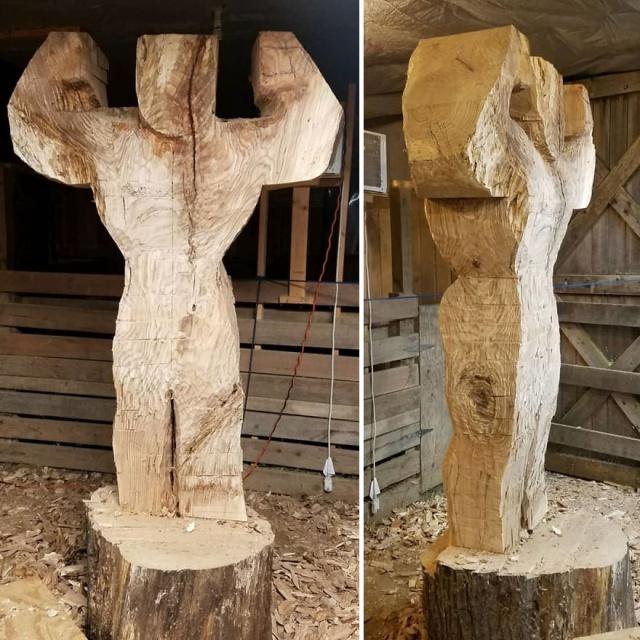 凄まじいクオリティの木彫りの彫刻の画像(2枚目)