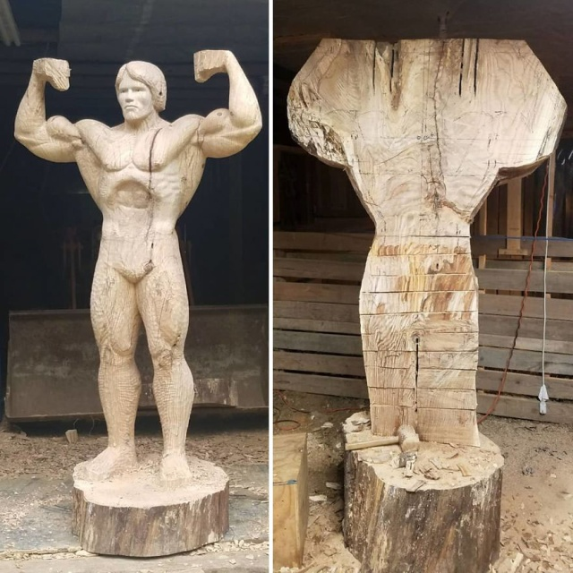 凄まじいクオリティの木彫りの彫刻の画像(3枚目)