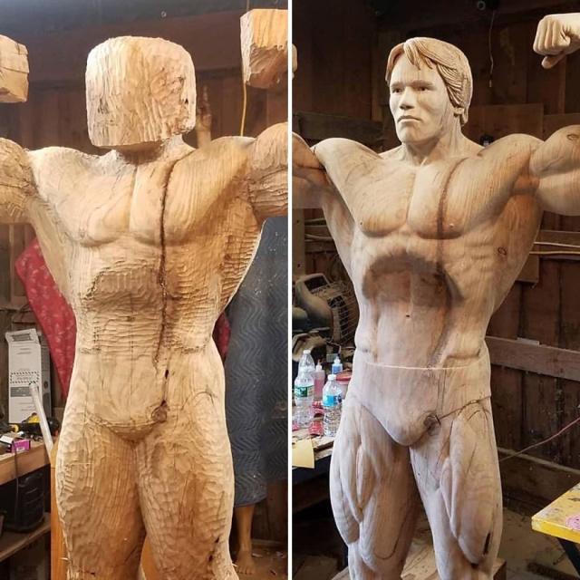 凄まじいクオリティの木彫りの彫刻の画像(5枚目)