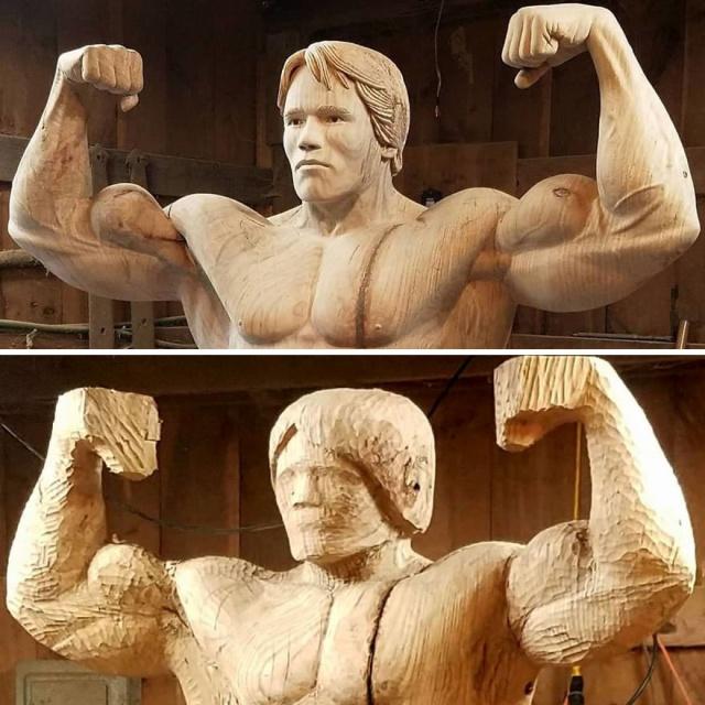 凄まじいクオリティの木彫りの彫刻の画像(6枚目)