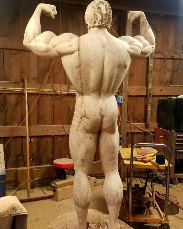 凄まじいクオリティの木彫りの彫刻の画像(7枚目)