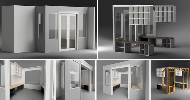 DIYで自宅に作ったオフィスの画像(2枚目)