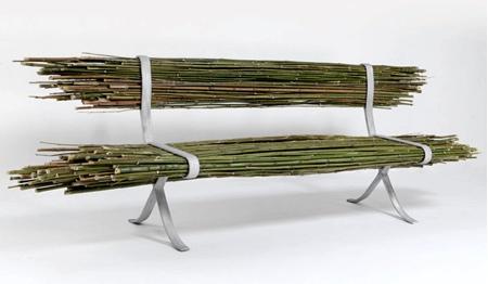 自然の竹を活用した「バンブーベンチ」の画像(2枚目)