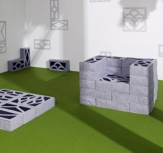 柔らか過ぎるコンクリートブロックのソファー04
