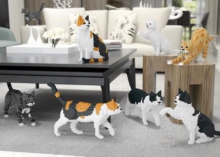 レゴで作ったネコの置物07