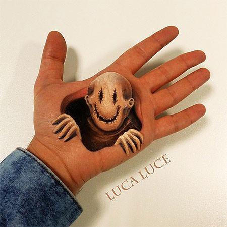 左手がオシャカになっちゃた!3Dアートですごい事になってる左手の画像の数々!!の画像(17枚目)