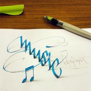 ノートにペンだけで描いた3Dの文字が凄い!!の画像(12枚目)