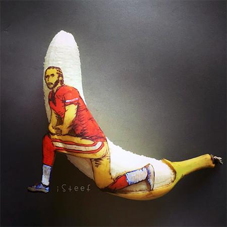 バナナのカービングアート15