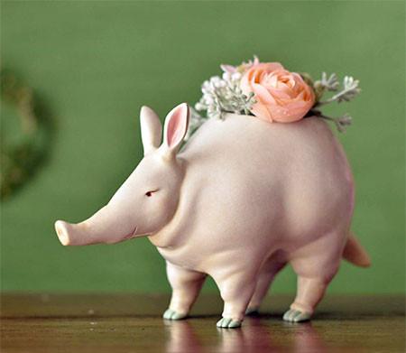 植木鉢で癒される!かわいい動物のプランターの画像の数々!!の画像(2枚目)