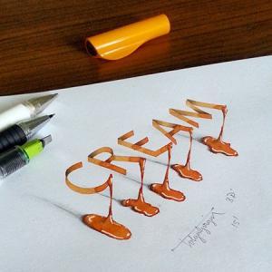 ノートにペンだけで描いた3Dの文字が凄い!!の画像(13枚目)