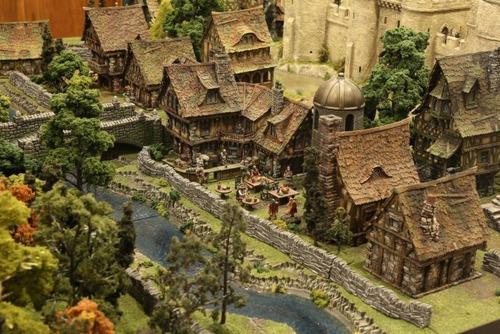 中世の世界を再現したジオラマの画像(6枚目)