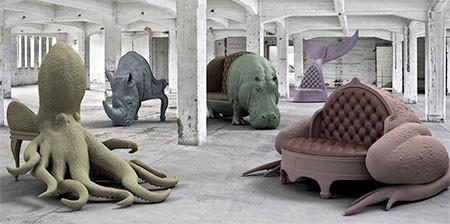 まるで本物!超リアルな動物の椅子が凄いwwwの画像(1枚目)