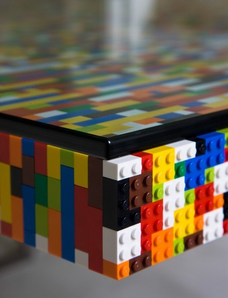 レゴで作った大きなテーブル05