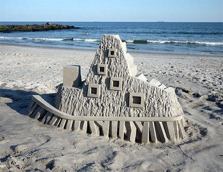 砂で作られた近代的なお城のアートの画像の数々!!の画像(8枚目)