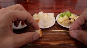 世界一小さい食べれるチーズフォンデュ4