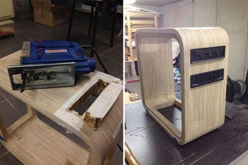 【画像】木製のパソコンケースを自作!カッコよくて落ち着いた木製パソコン!!の画像(4枚目)
