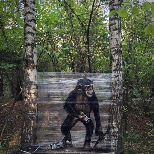 森の中の動物のペイント04