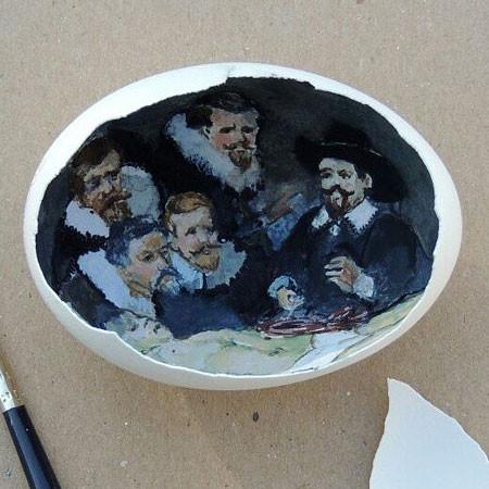 卵の中が別世界!卵の内側に絵を描くアートが面白い!!の画像(16枚目)