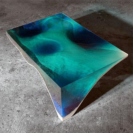 【画像】まるで深海そのもの!深い海の底のようなテーブルが凄い!!の画像(6枚目)