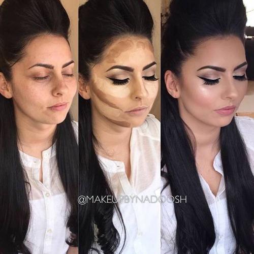 女性の化粧をする前と後の画像(15枚目)