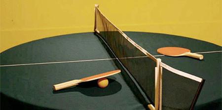 どこでも卓球台!!にできるテーブルクロスが魅力的wwwの画像(1枚目)