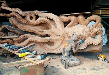 タコの彫刻07