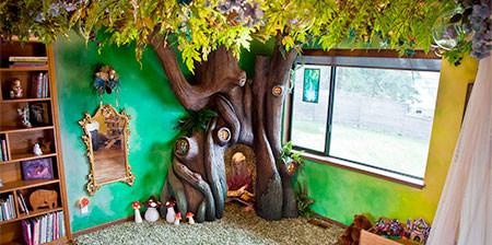 家の中に樹木の洞穴「樹洞」ができる!子供達も大喜び!!の画像(1枚目)