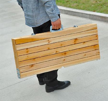 【画像】持ち運び簡単!鞄のように片手でもてる机と椅子のセット!!の画像(5枚目)
