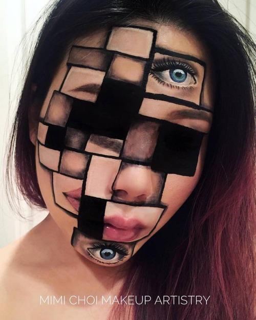 顔面が崩壊しているフェイスペイントの画像(4枚目)
