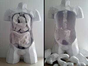 紙を使ったペーパークラフトの人体模型がなんだか凄い!!の画像(7枚目)