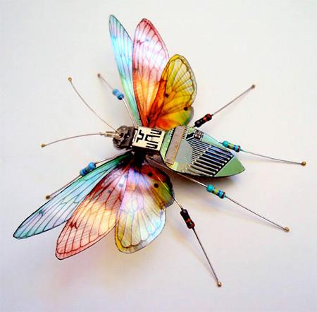 今にも動き出しそう!ちょっとリアルな電子部品でできた昆虫!!の画像(14枚目)