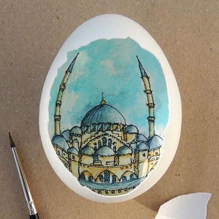 卵の中が別世界!卵の内側に絵を描くアートが面白い!!の画像(10枚目)