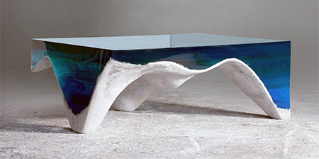【画像】まるで深海そのもの!深い海の底のようなテーブルが凄い!!の画像(1枚目)
