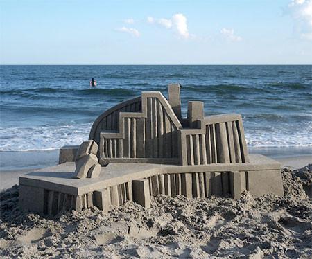 砂で作られた近代的なお城のアートの画像の数々!!の画像(10枚目)