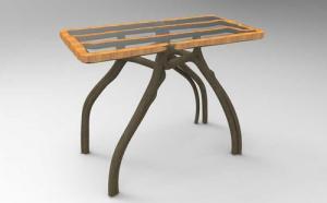 1本の木から椅子や家具の形をした木を育てる1