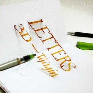 ノートにペンだけで描いた3Dの文字が凄い!!の画像(9枚目)