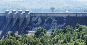 環境破壊ゼロ??ダムの壁面に高圧洗浄機で描かれたアートが凄い!!の画像(6枚目)