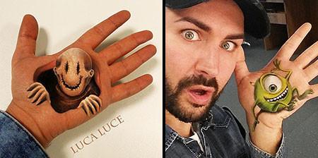 左手がオシャカになっちゃた!3Dアートですごい事になってる左手の画像の数々!!の画像(1枚目)
