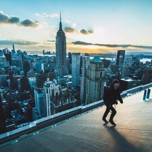 とりあえず高い所に来たので記念撮影をした写真が高すぎて本当に怖いwwの画像(13枚目)