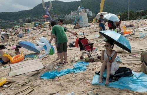 中国の海水浴場の画像(6枚目)