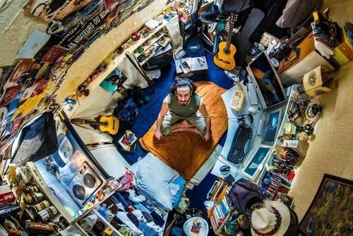 世界各国の人達のベッドルームの画像(8枚目)