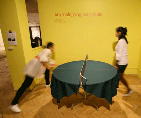 どこでも卓球台!!にできるテーブルクロスが魅力的wwwの画像(4枚目)